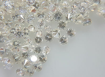 Natural Loose Wholesale Diamond Lot 50pc 1.4mm 0.60cts F Color VS-SI Clarity