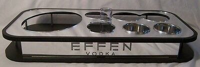 New EFFEN VODKA Mirrored Bottle Service Tray Caddy AWESOME BARWARE FIND