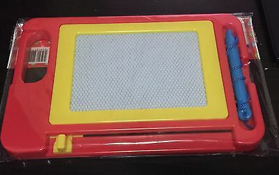 Kids Baby Plastic Magnetic Drawing Board Study Learn Creative Red Base