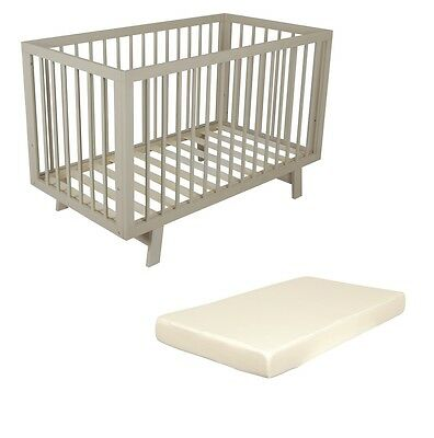 Bebecare Euro Cot Grey & Childcare Foam Mattress #`B0004
