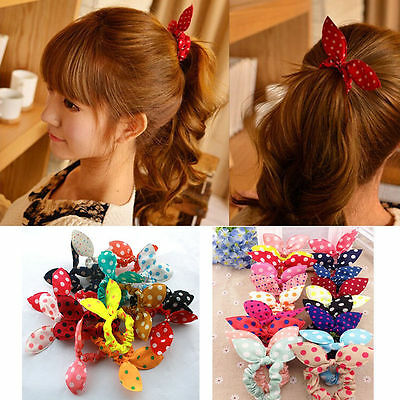 Fashion 10pcs Hair Tie Band Ponytail Holder Elastic Rubber Clear Women SS