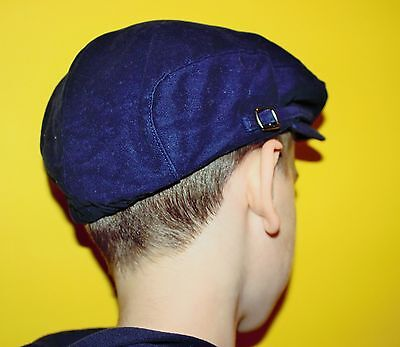 Boys newsboy cap Navy hat 4T 4-5 years Janie and Jack USED