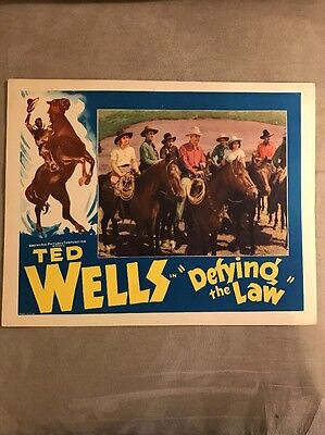 Original Ted Wells in Defying The Law Lobby Card 1935