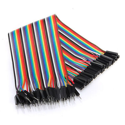 40Pcs 20cm Male to Female M-F Breadboard Jumper Wire Cable for Arduino 1P-1P