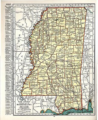 1948 ORIGINAL maps Minnesota and Mississippi Rand McNally a3
