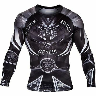 Venum Gladiator Long Sleeve Rashguard - Black/White