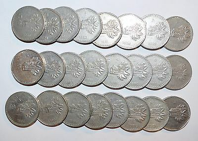 MEXICO lot 5 PESOS five cinco vintage world foreign D Mexican large 24 COINS