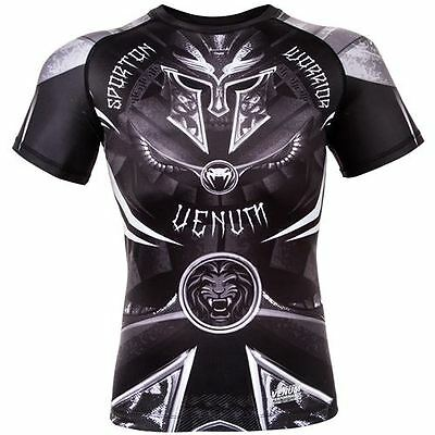 Venum Gladiator Short Sleeve Rashguard - Black/White