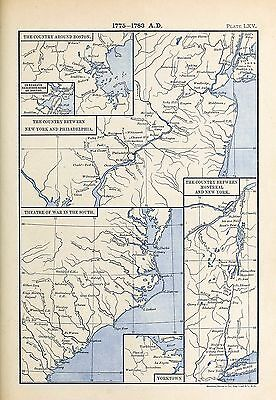 1905 Six Maps Illustrating War US Revolution Boston Country between New York 65