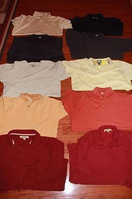Tommy Bahama Shirt Lot Of 10 Adult Mens Polo Shirts Tees Solids Some Silk Xl Xxl
