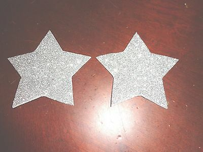 Womens Pasties /Nipple Covers water Resistant Silver Glitter Stars