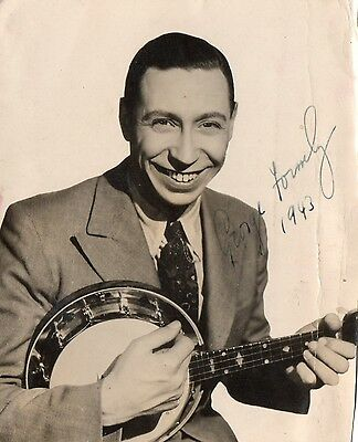 Authentic Signed George Formby 5 X 6 Original Photo...real Signature...coa.