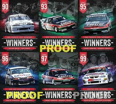 V8 Sleuth Bathurst Winners Posters Holden Set Perkins Lowndes Grice Commodore