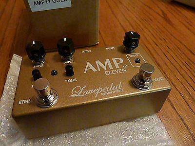 Lovepedal Custom Effects Gold Amp 11 Eleven 2 Stage Overvdrive Boost Gain Cot