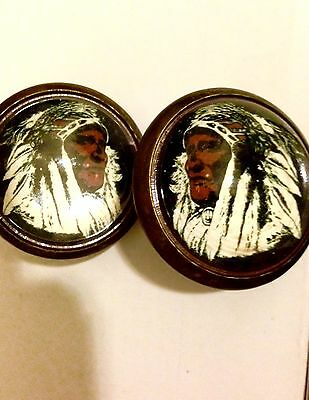 IndianChief , Domed Glass Horse Bridle Rosettes