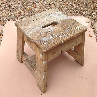 FREE SHIPPING Vintage Bell System Oak Stool By Putnam Rolling Ladder Company