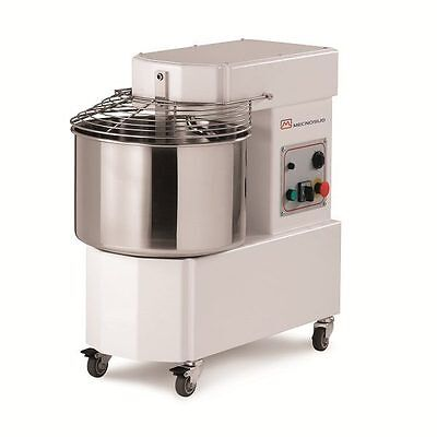 New Commercial Spiral Mixer 12.5kg Flour, 33L Bowl Mecnosud- Italy, 2yr Warranty