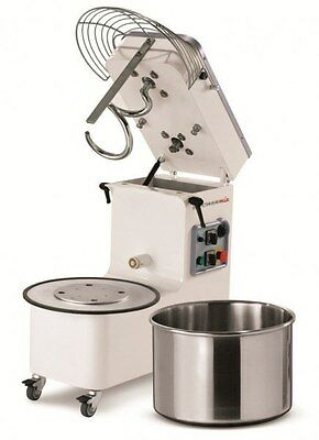 New Commercial Spiral Mixer 25kg Flour, 50L Bowl, Mecnosud - Italy, 2yr Warranty