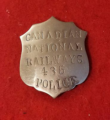 obsolete 1920s Canadian National Railway police badge