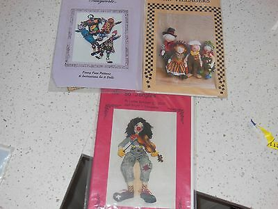 3 x Cloth Doll Patterns