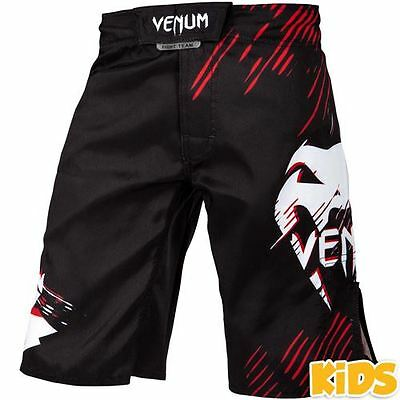 Venum Contender Kids Fight Shorts - Black/Red