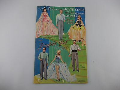 Vintage Merrill 1941 Movie Stars Hollywood Models Cut Out Paper Doll Book Repro