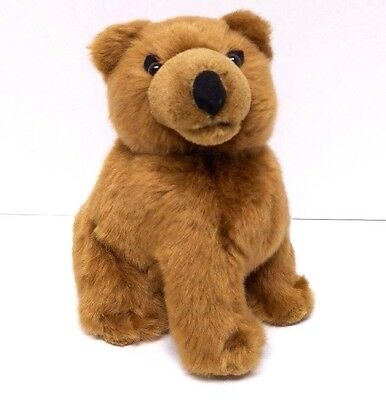 """FRONTIER AIRLINES Grizwald Bear 8"""" Plush Stuffed Animal Tag Airplane Advertising"""