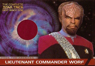 Complete Star Trek Deep Space Nine DS9 Costume Card - CC2 Worf (Red)