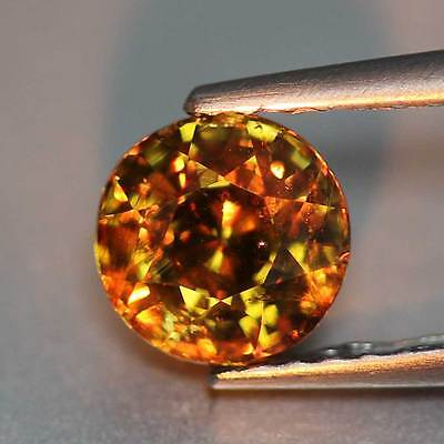 """0.97Cts""""Namibia""""Honey Yellow To Red""""Natural Color Change Andradite Garnet""""PR1620"""