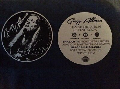 """Greg Allman Promo Sticker """"Southern Blood""""  Yet To Be Released -Allman Brothers"""