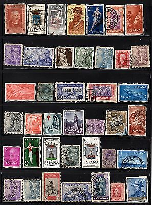 Collection of 50 Spanish stamps