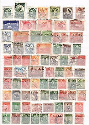 Collection of 75 Australian stamps