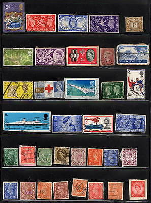 Collection of 35 OLD GB Stamps inc. 1 x PENNY RED