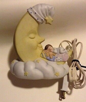 Night Light Of Baby With The Crescent Moon