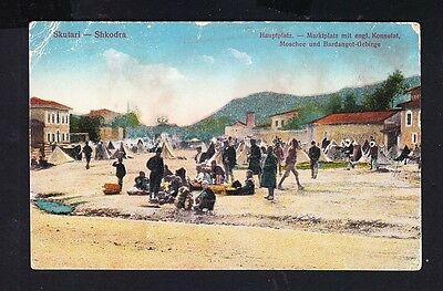 1917  Albania. Albanian Old Postcard. Austrian Soldier in Shkodra. RARE