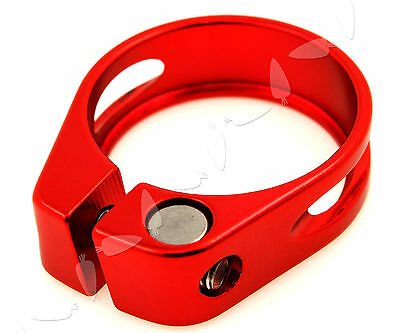 34.9mm Red Color Bicycle Cycle Mountain Bike Seat Post Clamp