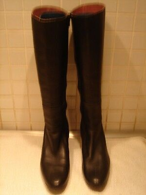 Camper Black Knee High Leather Boots Size 38