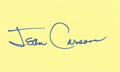 Jean Carson (1923-2005) Fun With Dick and Jane, Andy Griffith Show, autograph