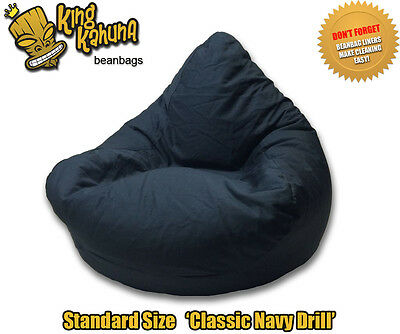Blue Beanbag Chair Quality New Large Lounge Soft Gaming Cinema Theatre