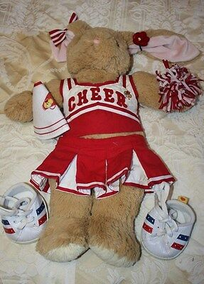 Build A Bear Rabbit With Cheer Leaders Outfit