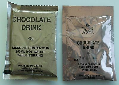 CHOCOLATE DRINK   from AUSTRALIAN RATION PACK (MRE) Food (Cadets)