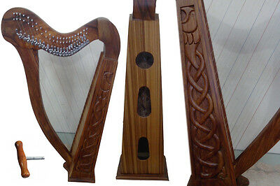 Top quality 22 string lever harp made of rosewood with free bag and key