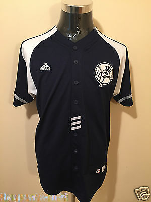 MLB New York Yankees #2 YOUTH LGE/14-16 Embroidered Baseball Jersey by Adidas