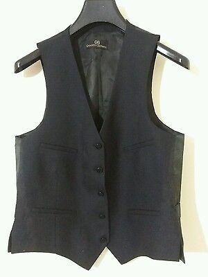 Used Black Vest Size 38L Free Shipping #980