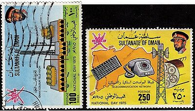 OMAN Used Scott # 165, 167 Television & Communications (2 Stamps) -4