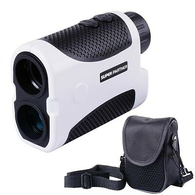 Golf Laser Range Finder 6x Distance Pinseeking Flag Slope Angle Case White