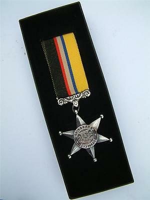 Defence Of Kimberley Star Boer War Mayors Seige Medal British Army Military Box