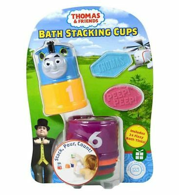 Brand New Thomas The Tank Bath Stacking Cups With 2 Bath Tints Ages 3-4 Years