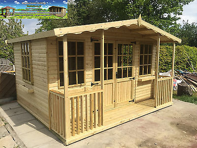 10x12 Apex Summerhouse Summer house Garden Office Shed Contemporary T&G