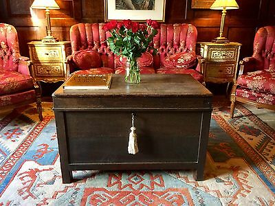 Fabulous Antique Late Victorian Oak Coffer Blanket Chest 19th Century